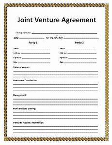 agreement templates free word39s templates With jv agreement template free