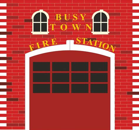 fire station engine fireman sam wall stickers mural decal
