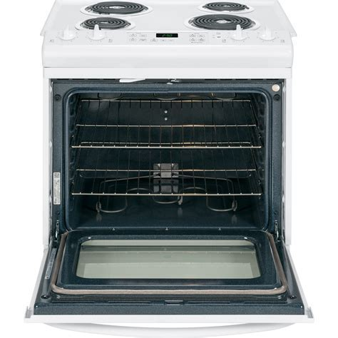 "JS250DFWW   GE 30"" Slide In Front Control Electric Range"