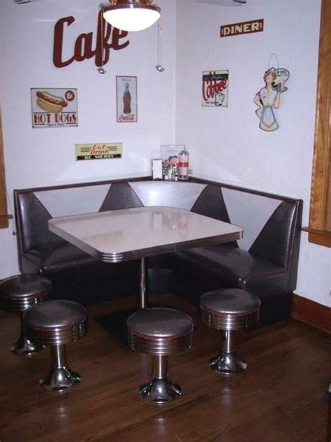 L Shaped Booth: Home, Kitchen, Floor Mounted Stools, Booth