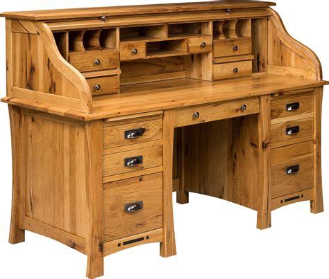 amish arts  crafts rolltop desk woodworking desk