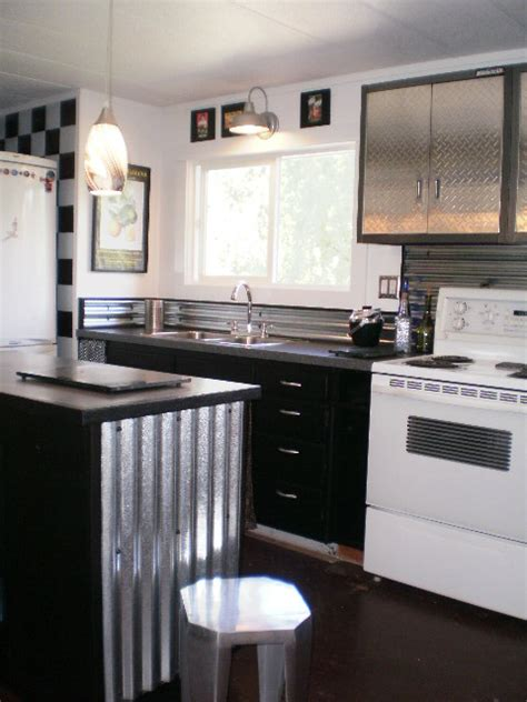 Ideas For Redoing Kitchen Cabinets - sheet metal single wide remodel mobile home living