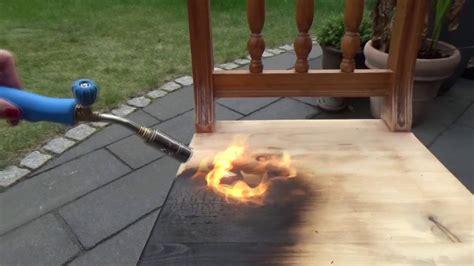 holz kuenstlich altern lassen teil  abflammen youtube