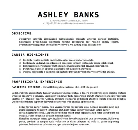 Professional Cv Format Word Document by Format Of Cv Word File Resume Templates Word 15 Free