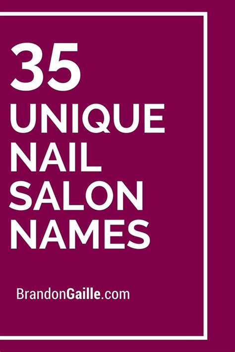catchy  clever nail salon names nail salon names