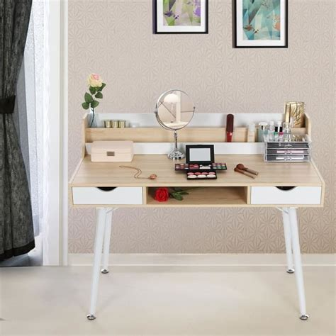 bureau maquillage bureau informatique coiffeuse table de maquillage avec 2