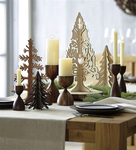 Weihnachtliche Tischdeko Holz by 75 Moderne Weihnachtliche Tischdeko Vorschl 228 Ge F 252 R Ein