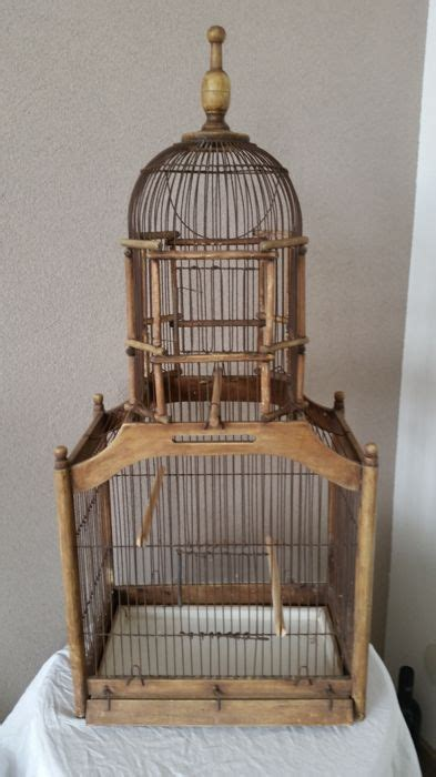 Decorative Wood Bird Cage by Large Decorative Wooden Bird Cage 2nd Part 20th Century