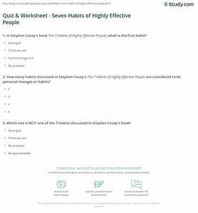 Printables  7 Habits Of Highly Effective Teens Worksheets