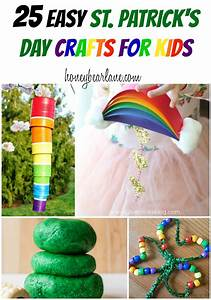 25 Easy StPatrick's Day Crafts For Kids Honeybear Lane