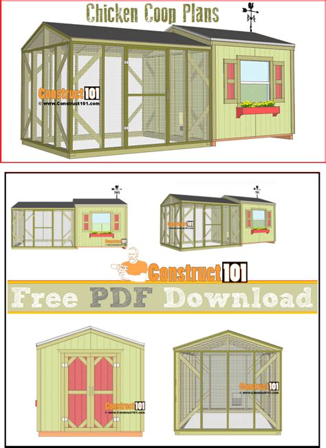 large chicken coop plans   construct