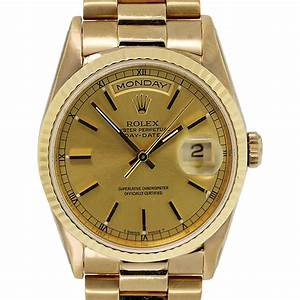Rolex Yellow Gold Presidential Day-Date Stick Dial ...