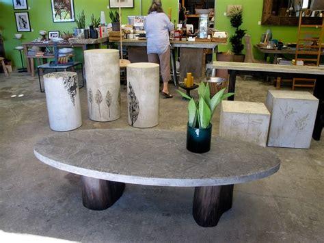 oval concrete coffee table pin by travis steffan on concrete pinterest