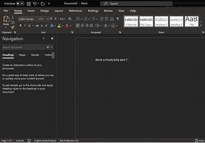 Dark Word Microsoft Desktop Theme Mode Gray