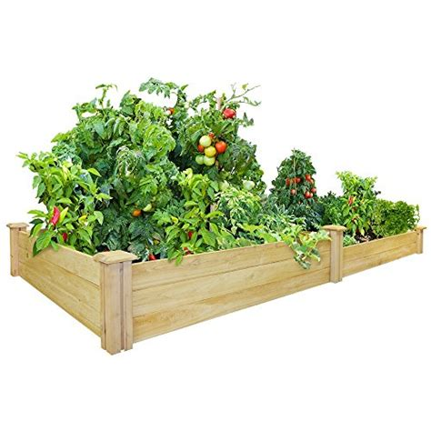 greenes fence raised garden bed greenes fence 48 inch x 96 inch cedar raised garden bed