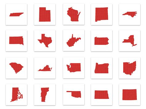 50 Us States Includes Applique And Stitched Embroidery