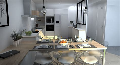 cuisine avec verri鑽e stunning cuisine ouverte avec verriere contemporary matkin info matkin info