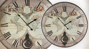 Pendule Maison Du Monde : horloge d co murale mappemonde vintage ~ Teatrodelosmanantiales.com Idées de Décoration