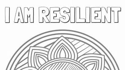 Coloring Resilient Mental Health Natural