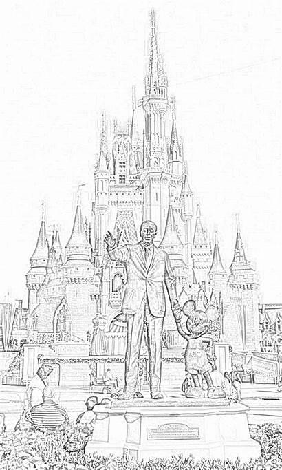 Disney Coloring Pages Walt Filminspector Downloadable Cinderella