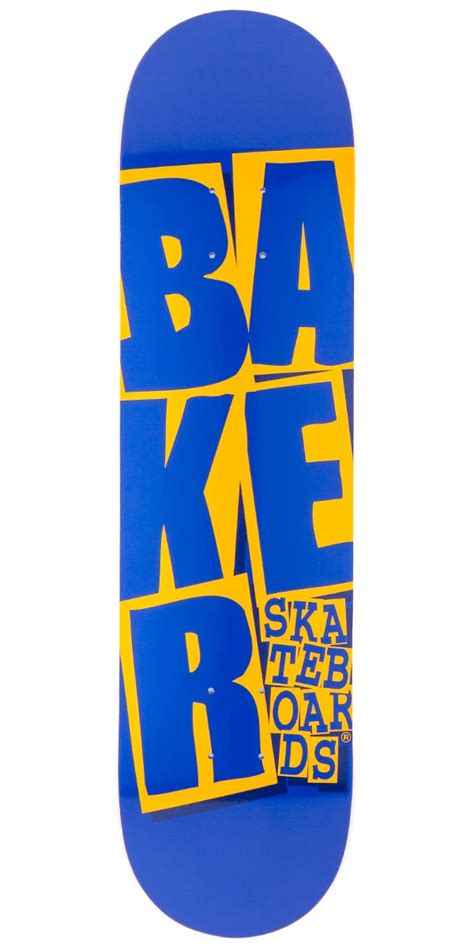 baker stacked skateboard deck blue yellow 7 75 quot