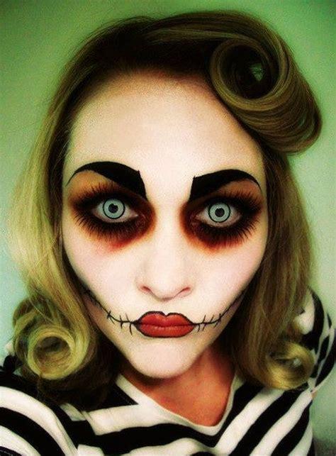 maquillajes de muneca diabolica  halloween