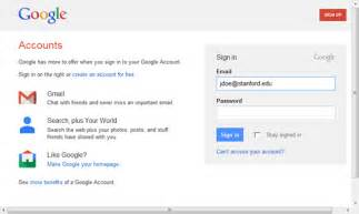 Google Gmail Email Account Login Page