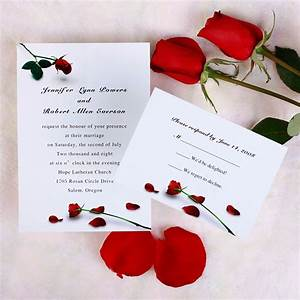 red wedding invitations With red rose wedding invitations uk