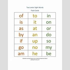 Items Similar To Two Letter Sight Word Workbook Worksheets For Learning To Read, Home School