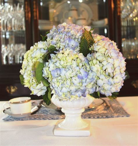 centerpieces with hydrangeas stranded in cleveland mother s day table d 233 cor blue hydrangea centerpiece brunch table d 233 cor
