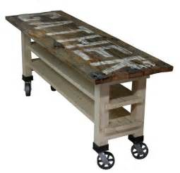 Counter Height Kitchen Island Dining Table Gather Reclaimed Wood Lettered Kitchen Island Or Counter Height Dining Table On Caster Wheels