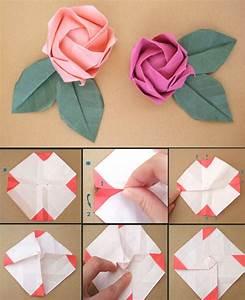 Basteln Mit Papier Anleitung : papier origami rose 1 papier falten papier pinterest origami rose papier falten und origami ~ Frokenaadalensverden.com Haus und Dekorationen
