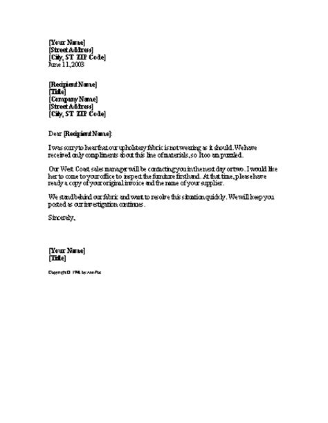 Discontinued Product Notice – Letter Template