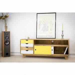 Meuble Scandinave Vintage : meuble tv design scandinave ~ Teatrodelosmanantiales.com Idées de Décoration