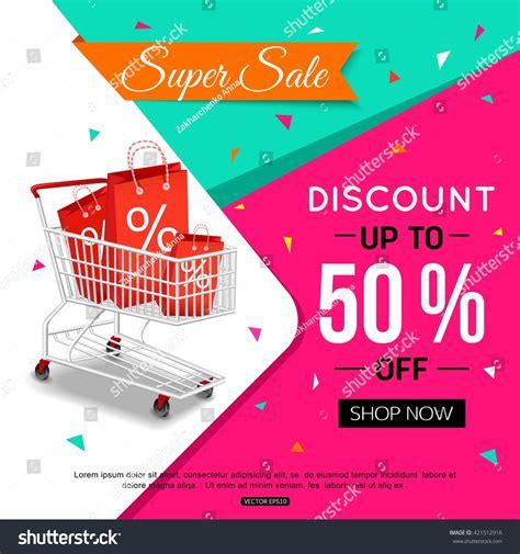 super sale banner design shop  stock vector