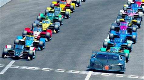 Bugatti black devil vgt is a concept car. Bugatti Black Devil VGT vs IndyCars 2020 at Oval MotorSpeedway - YouTube