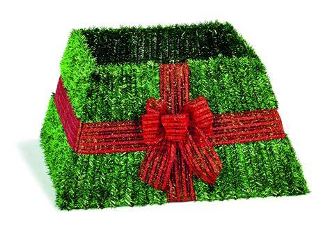 premier decorations green tinsel tree skirt at barnitts