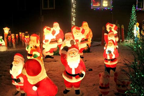 lighted blow mold christmas decorations