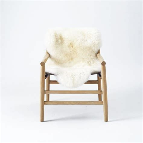 leather fur sling chair contemporary armchairs and