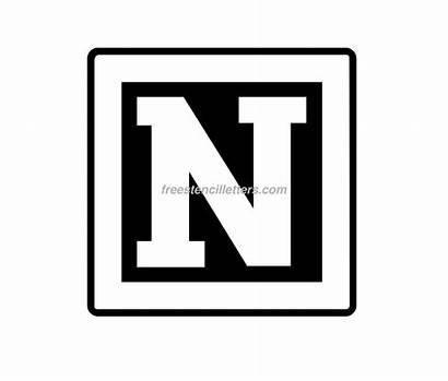 Letter Letters Block Stencil Cut Stencils Stencill