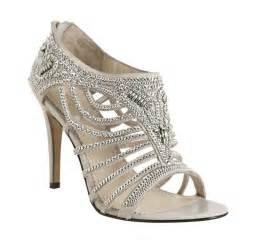 shoes for a wedding grey rhinestoned open toe bridal heels wedding shoes