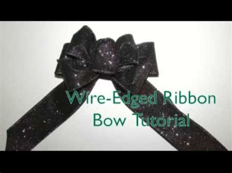wire edged ribbon bow tutorial youtube