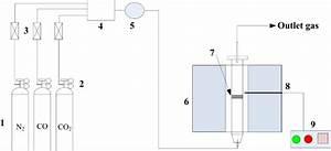 Schematic Diagram Of The Experimental Apparatus  1  Gas