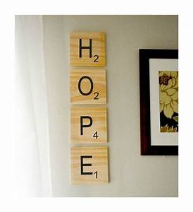 giant scrabble style wood wall art choose your own With letter tiles for wall