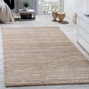 Teppich Wohnzimmer Modern : teppich modern wohnzimmer kurzflor gem tlich preiswert meliert in creme wohn und schlafbereich ~ Sanjose-hotels-ca.com Haus und Dekorationen