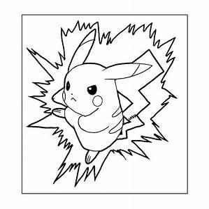 pikachu color page - pok mon coloring pages