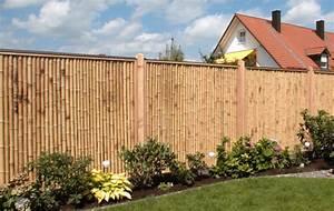 Gartenzaun Höhe Zum Nachbarn : sichtschutz aus bambus bambusexperte ~ Lizthompson.info Haus und Dekorationen