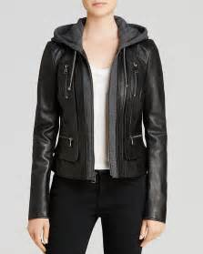 marc new york belle bubble leather jacket with hood for