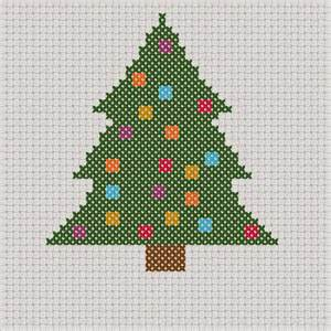 craft with cartwright free christmas tree with baubles cross stitch pdf pattern
