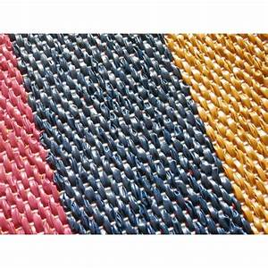 tapis exterieur happy color tresse a rayures multicolores With tapis exterieur design